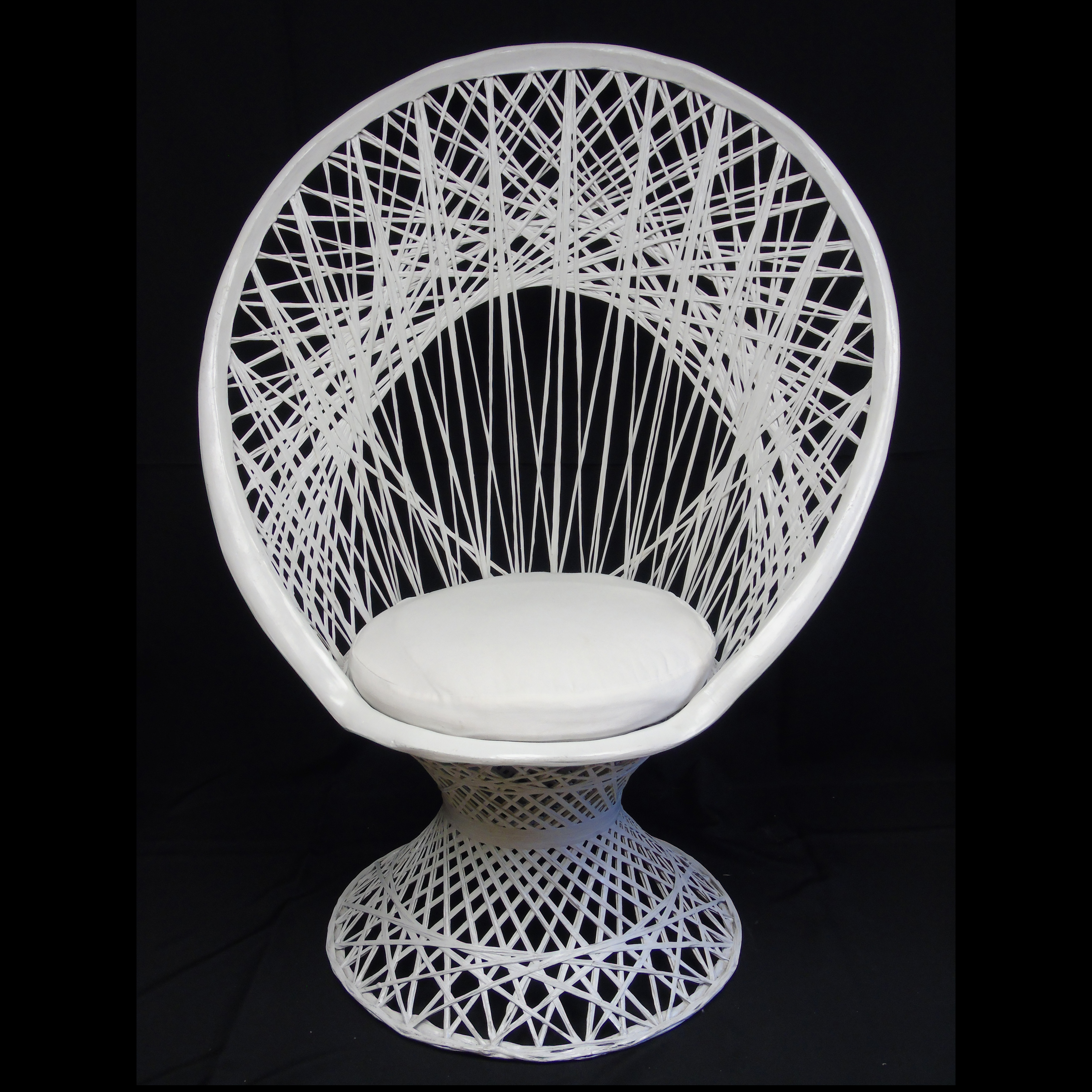 White Wicker Chair American Party RentalAmerican Party Rental