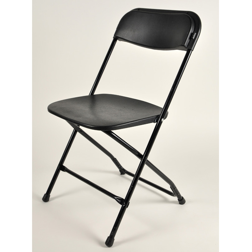 Black Folding Chair FOR INDOOR USE ONLY American Party