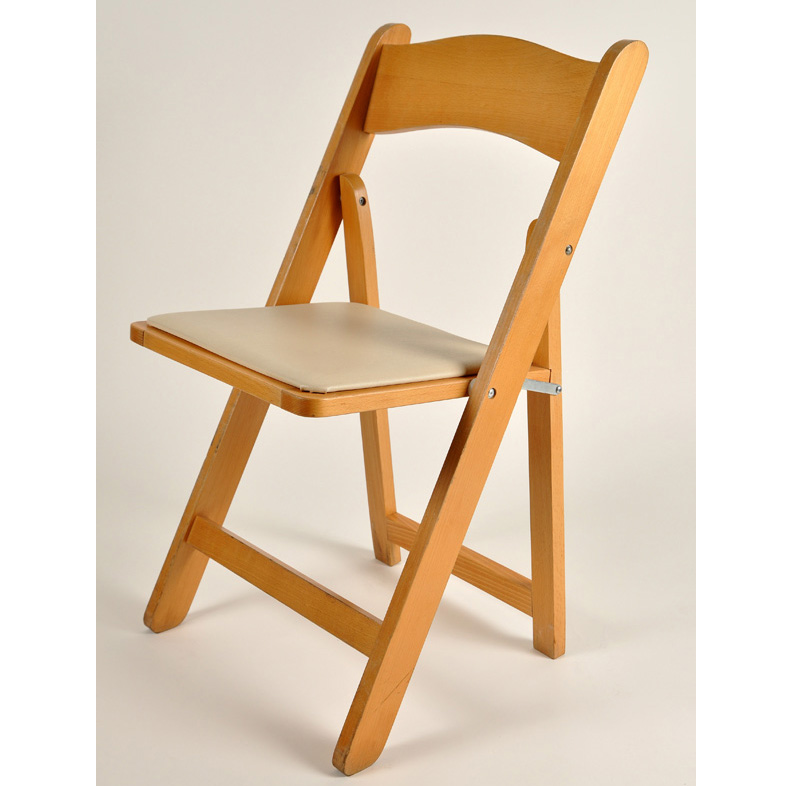 Natural Wood Folding Chair American Party RentalAmerican Party Rental