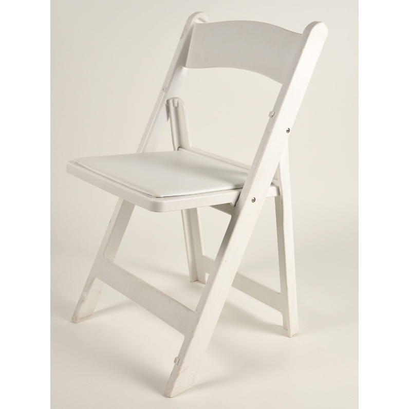 Resin Folding White Chair With Pad American Party RentalAmerican Party Rental