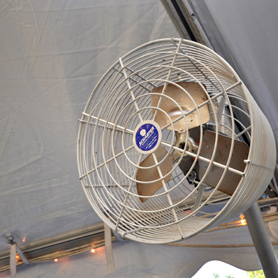 White-Tent-Fan & Clamp-On Tent Fan - American Party RentalAmerican Party Rental