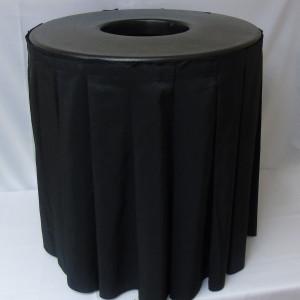black skirt trash can topper