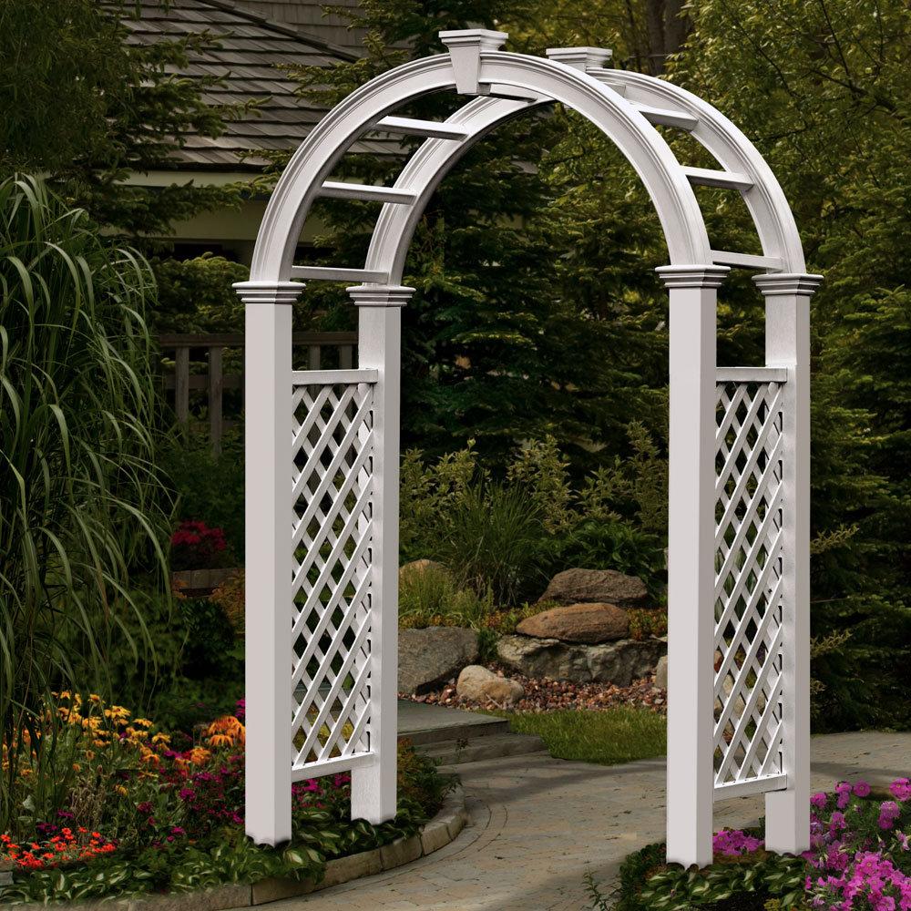 White Lattice Wedding Arch